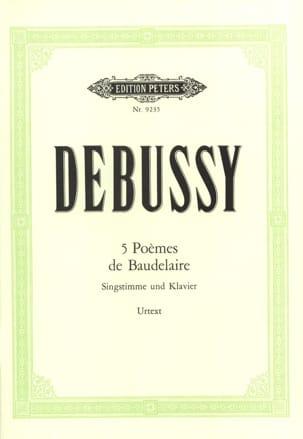 Claude Debussy - 5 Poèmes de Baudelaire - Partition - di-arezzo.fr