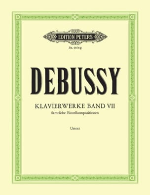 Oeuvres Pour Piano. Volume 7 DEBUSSY Partition Piano - laflutedepan