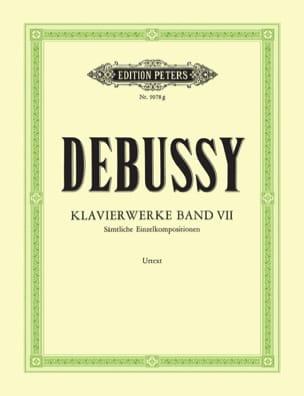 DEBUSSY - Oeuvres Pour Piano. Volume 7 - Partition - di-arezzo.fr