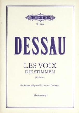Les Voix Paul Dessau Partition Mélodies - laflutedepan
