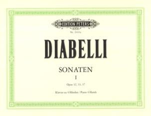 Anton Diabelli - Sonates Opus 32, 33 et 37 - Partition - di-arezzo.fr