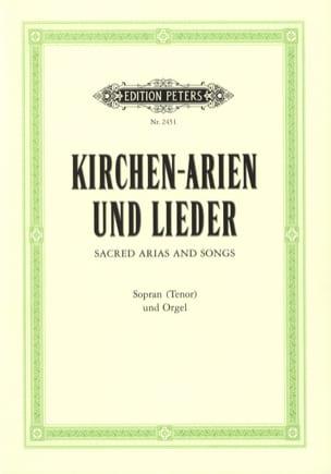 Kirchen-Arien Und Kirchen-Lieder. Voix Haute - Partition - di-arezzo.fr
