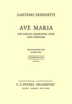 Ave Maria Donizetti Partition Chœur - laflutedepan