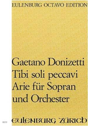 Gaetano Donizetti - Tibi soli peccavi - Partition - di-arezzo.fr