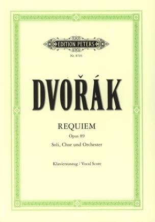 Requiem Opus 89 DVORAK Partition Chœur - laflutedepan
