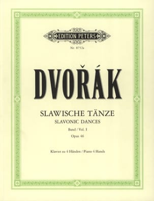 Anton Dvorak - Slaves Dances Opus 46. 4 Hands - Sheet Music - di-arezzo.co.uk