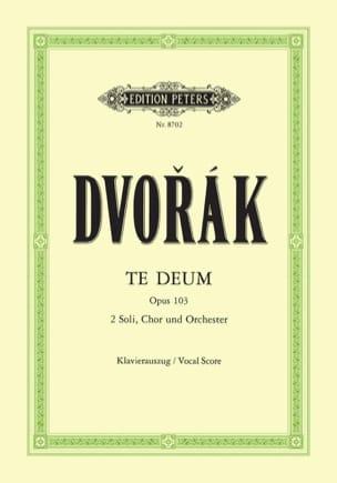 Anton Dvorak - Te Deum Opus 103 - Partitura - di-arezzo.it