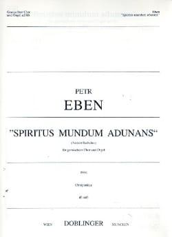 Spiritus mundum adunans - Petr Eben - Partition - laflutedepan.com