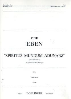 Petr Eben - Spiritus mundum adunans - Partition - di-arezzo.fr