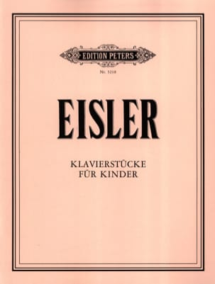 Klavierstücke für Kinder Hanns Eisler Partition Piano - laflutedepan