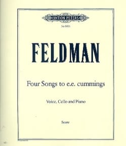 Morton Feldman - 4 Songs To E.E. Cummings - Partition - di-arezzo.fr