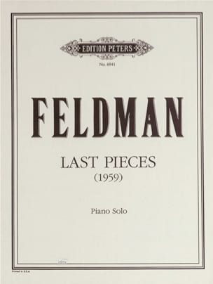 Last Pieces 1959 - Morton Feldman - Partition - laflutedepan.com