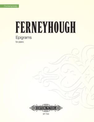 Epigrams - Ferneyhough - Partition - Piano - laflutedepan.com