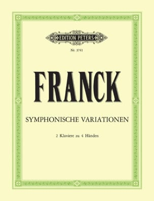 Variations Symphoniques. 2 Pianos FRANCK Partition laflutedepan