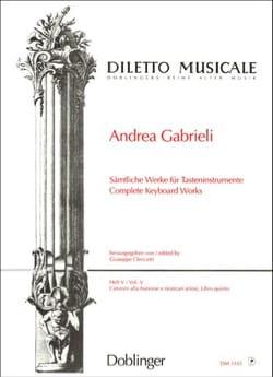 Sämtliche Orgelwerke Volume 5 Andrea Gabrieli Partition laflutedepan