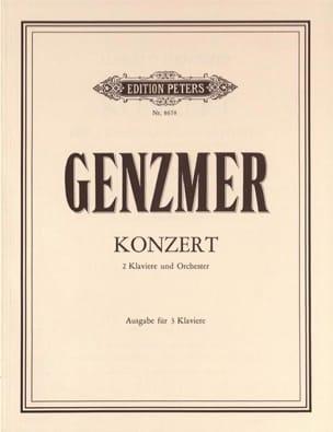 Genzmer - Concerto Pour 2 Pianos. 3 Pianos - Partition - di-arezzo.fr