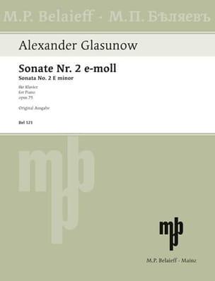 Alexander Glazounov - Sonate n° 2 Opus 75 - Partition - di-arezzo.fr
