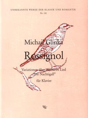 Mikhail Glinka - Rossignol - Partition - di-arezzo.fr