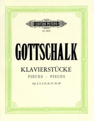 Louis Moreau Gottschalk - Pièces Pour Piano - Partition - di-arezzo.fr