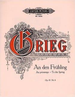 An Den Frühling Opus 43-6 - Edward Grieg - laflutedepan.com
