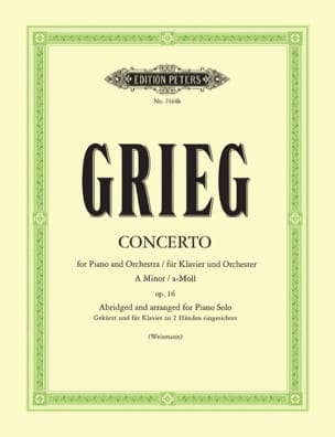 Concerto Op. 16. Réduction 1 Seul Piano - laflutedepan.com