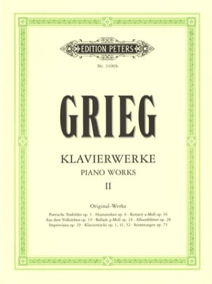 Edward Grieg - Work For Piano. Volume 2 - Sheet Music - di-arezzo.com