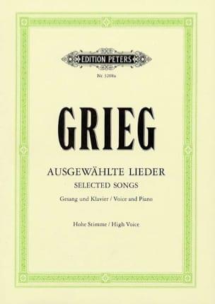 Edward Grieg - Ausgewählte Lieder Voix Haute - Partition - di-arezzo.fr