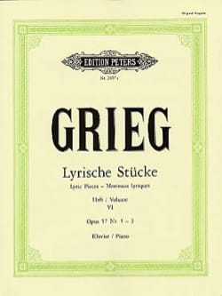 Edward Grieg - Lyrische Stücke Volume 6 Opus 57 1-3 - Partition - di-arezzo.fr