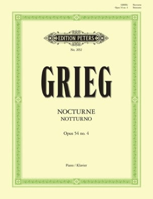 Edward Grieg - Notturno Opus 54-4 - Partition - di-arezzo.fr