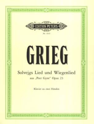 Solveigs Lied Und Wiegenlied GRIEG Partition Piano - laflutedepan