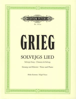 Edward Grieg - Solvejg's Song High Voice. Peer Gynt - Partitura - di-arezzo.it