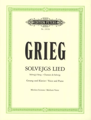 Edward Grieg - Solvejg's Song. Peer Gynt Average Voice - Sheet Music - di-arezzo.com