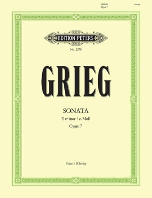 Edward Grieg - Sonata In E Minor Opus 7 - Sheet Music - di-arezzo.co.uk