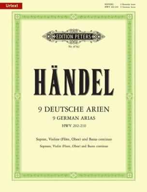 Georg-Friedrich Haendel - 9 Deutsche Arien HWV 202-210 - Partition - di-arezzo.fr
