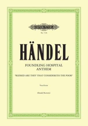 Foundling Hospital Anthem - HAENDEL - Partition - laflutedepan.com