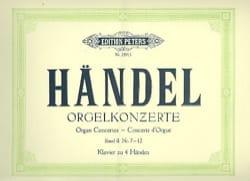 Concertos Pour Orgue Volume 2. 4 mains HAENDEL Partition laflutedepan