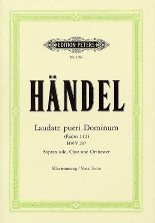 Georg-Friedrich Haendel - Psaume 112 : Laudate Pueri HWV 237 - Partition - di-arezzo.fr