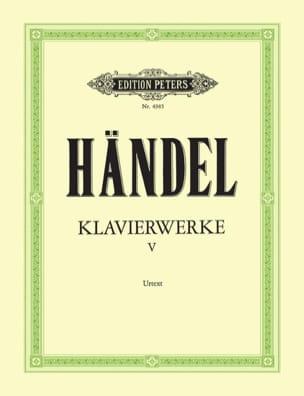 Oeuvre Pour Piano Vol 5 - Georg-Friedrich Haendel - laflutedepan.com