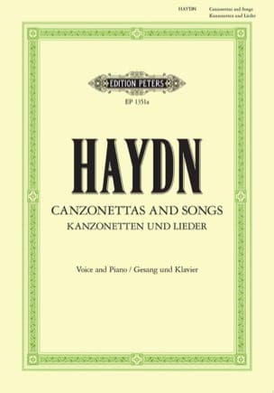 Joseph Haydn - Canzonettas And Songs - Partition - di-arezzo.fr