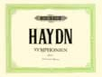 Symphonies Volume 1. 4 Mains HAYDN Partition Piano - laflutedepan