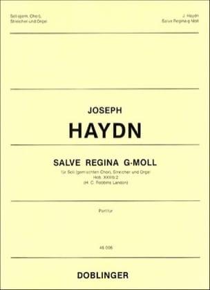 HAYDN - Salve Regina Sol mineur Hob XXIIIb-2 (23b-2). Conducteur - Partition - di-arezzo.fr