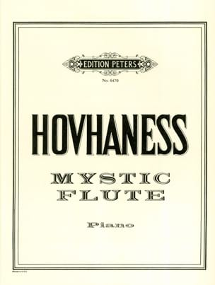Hovhaness - Mystic Flute op.22 - Partition - di-arezzo.fr