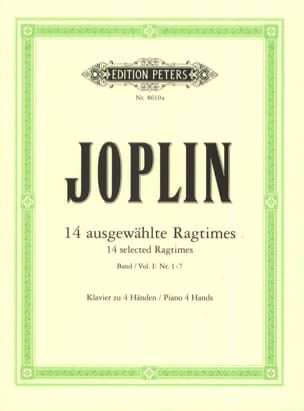Ragtimes Volume 1. 4 Mains JOSPLIN Partition Piano - laflutedepan