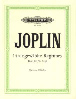 Ragtimes Volume 2. 4 Mains JOPLIN Partition Piano - laflutedepan