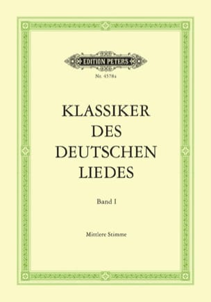 - Klassiker of Deutschen Liedes Volume 1. Mean Voice - Sheet Music - di-arezzo.com