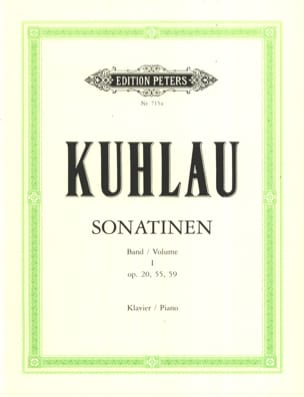 Sonatines Volume 1 Friedrich Kuhlau Partition Piano - laflutedepan