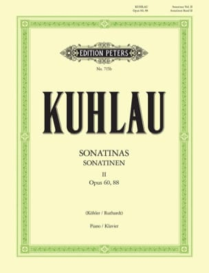 Friedrich Kuhlau - Sonatines Volume 2 Opus 60 et 88 - Partition - di-arezzo.fr