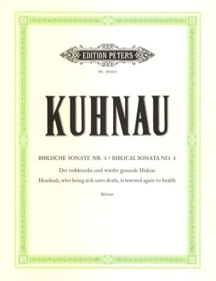Biblische Sonate N° 4 - Johann Kuhnau - Partition - laflutedepan.com