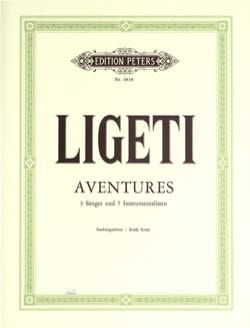 György Ligeti - Aventures - Partition - di-arezzo.fr