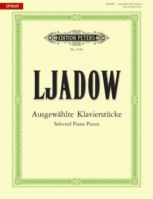 Ausgewählte Stücke Anatoly Liadov Partition Piano - laflutedepan